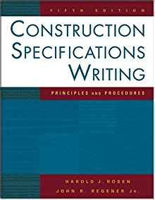 writing effective content project specifications books construction specifications writing principles and