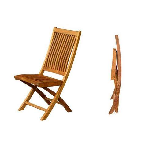 chaise pliante en bois chaise pliante de jardin galb 233 e bois teck massif 62cm