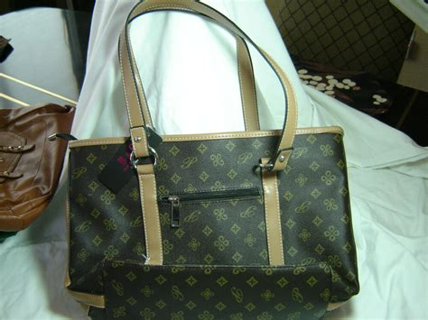 brown monogram designer handbags  becky gene great