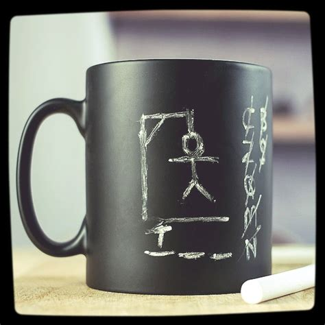 Coolest Coffe Mugs | chalkboard cool coffee mug best coffee mugs