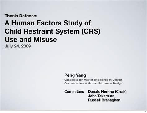 thesis about education slideshare thesis defense presentation a human factors study of