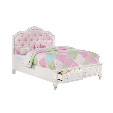white twin bed with drawers coaster caroline twin tufted bed with drawers in white