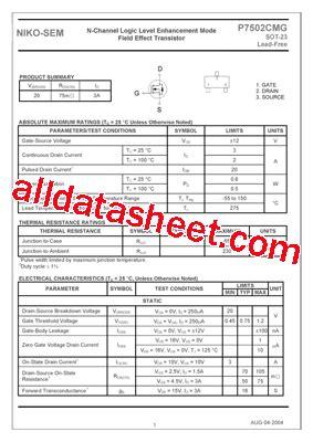transistor equivalent list free p7502cmg datasheet pdf list of unclassifed manufacturers