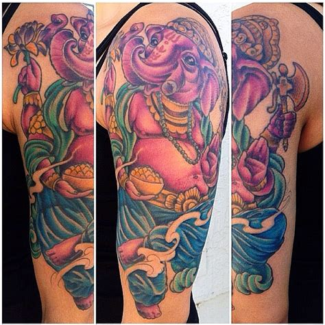 ganesh tattoo shop ganesh upper sleeve remington tattoo parlor