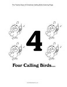 12 christmas calling birds coloring kidscanhavefun blog