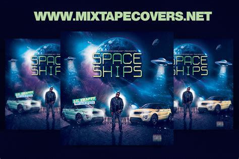 mixtape design templates space ships mixtape cover design template mixtapecovers net