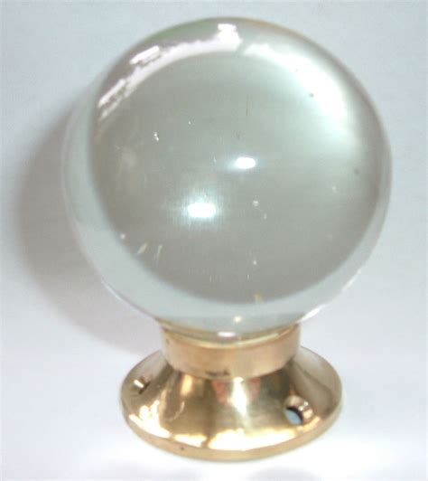 Clear Glass Door Knobs Clear Smooth Glass Door Knobs Brass Base Pairs Free Postage Ebay