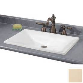 small rectangular drop in bathroom sinks shop cheviot estoril biscuit drop in rectangular bathroom
