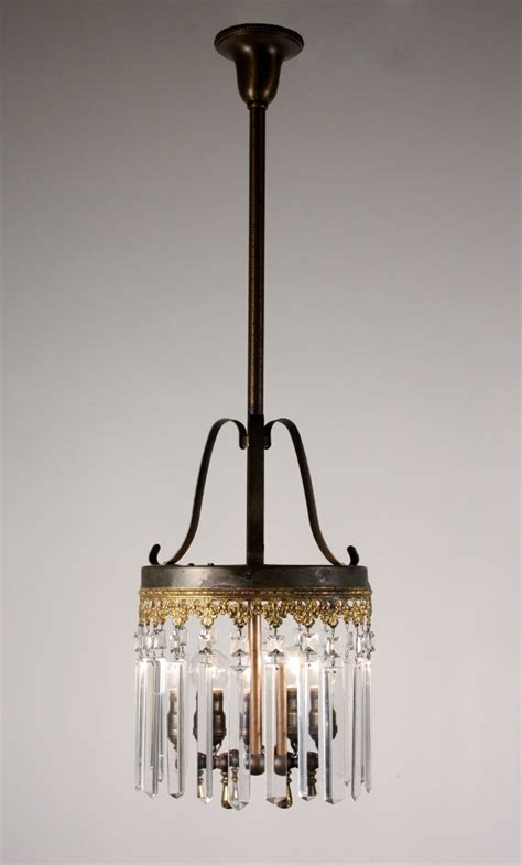 Antique Gas Chandelier Stunning Antique 19th Century Gas Chandelier With Prisms Nc1061 For Sale Antiques