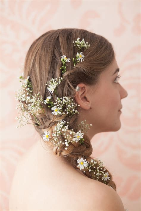 Studio Ideas by Wide Daisy And Gypsophila Side Plait
