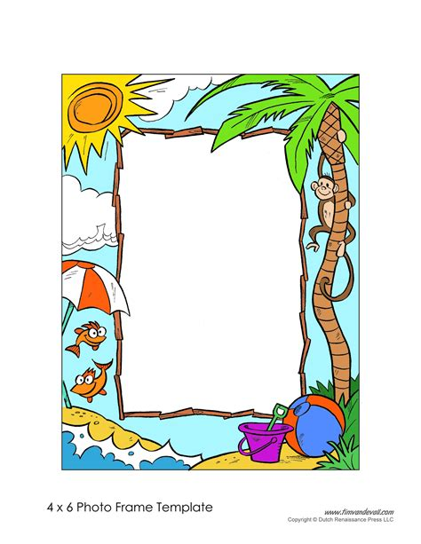 printable picture frames templates free photo frame templates make your own photo frame