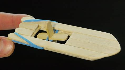 rubber band boat how to make a popsicle stick and rubber band paddle boat