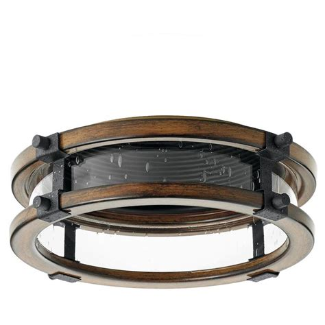 can light trim kits shop kichler barrington distressed black and aged wood