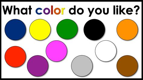 what do different colours colors what color do you like speaking