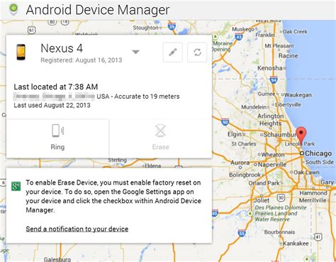 android devicemanager find your lost android devices with the automatically enabled android device manager android