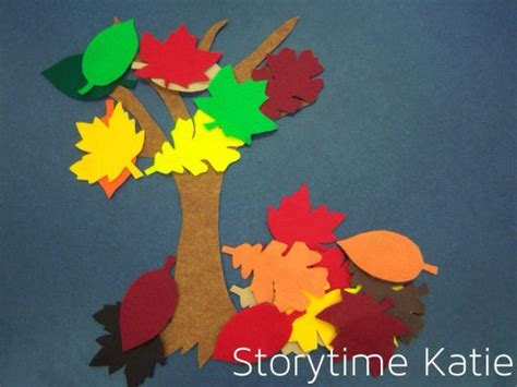 themes storytime flannel friday leaves storytime katie projects to