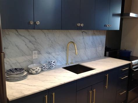 Statuarietto Vintage Marble   Contemporary   kitchen   Benjamin Moore Gentleman's Gray   Toronto