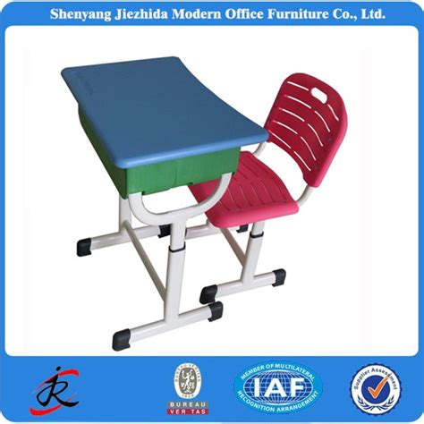 study table and chair for adults cheap plastic pvc school classroom height adjustable desks