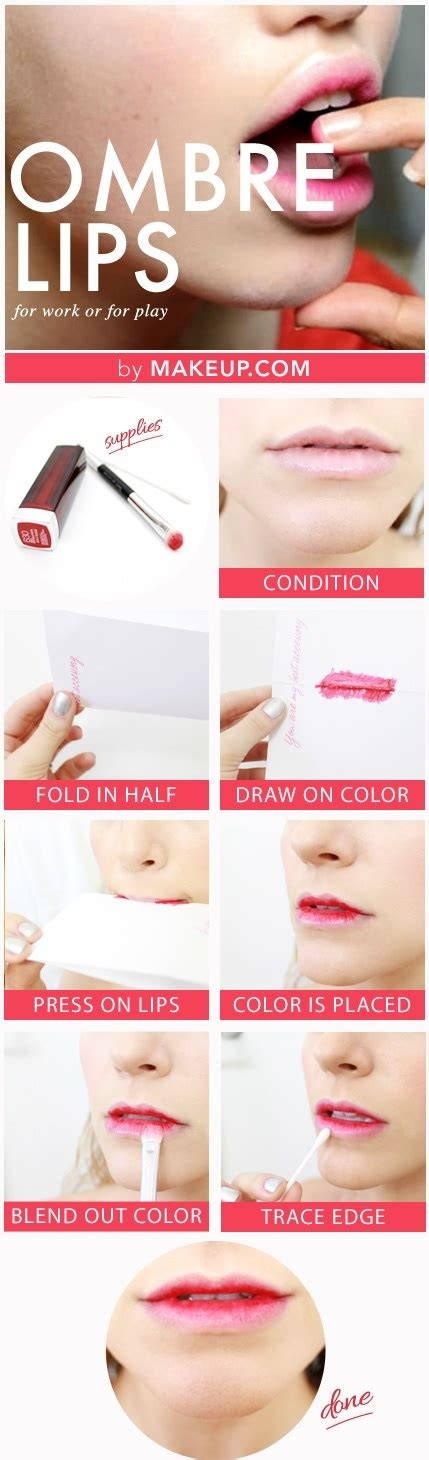ombre lip tutorial bold lip makeup looks to try