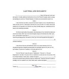 last will template last will and testament free template best exle
