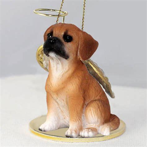 puggle dog figurine angel statue