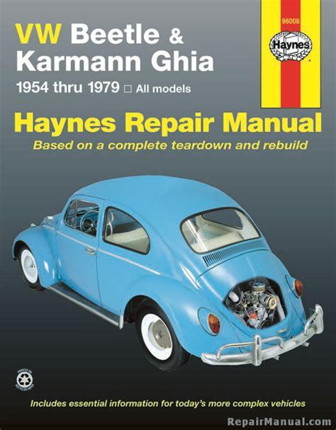 free online auto service manuals 1967 volkswagen beetle interior lighting haynes vw beetle karmann ghia 1954 1979 auto repair manual
