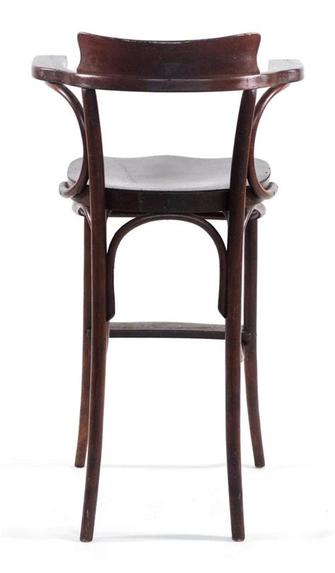 tall armchair thonet tall bentwood armchair with original label in a brow