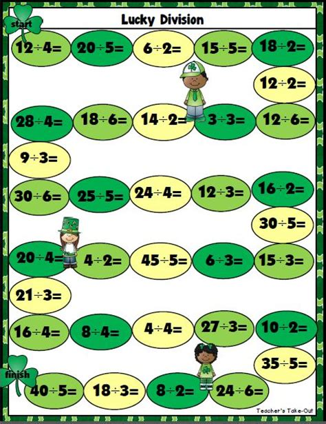 printable division games for year 2 351 best teacher s take out freebies images on pinterest