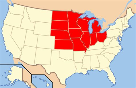 usa map states wisconsin file map of usa midwest svg wikimedia commons
