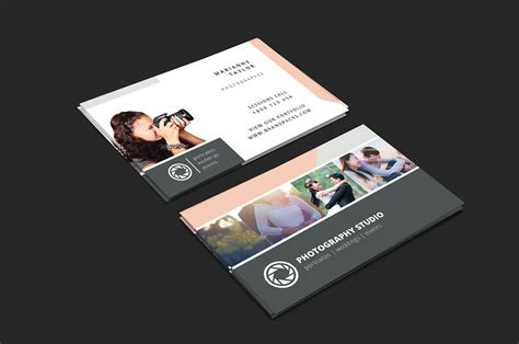 wedding photographer business card template v3 brandpacks