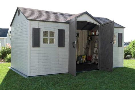Lifetime 6446 15 By 8 Foot Outdoor Storage Shed by Lifetime 6446 Outdoor Storage Shed With Shutters Windows