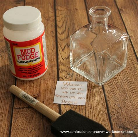 how to decoupage a glass jar