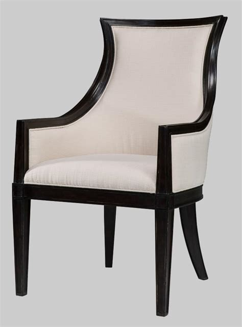 Ebonized Transitional Upholstered Back Dining Chairs Transitional Dining Chairs