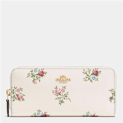 Coach Floral Zip Wallet coach slim accordion zip wallet with cross stitch floral