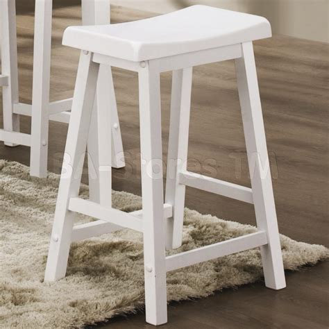 White Wooden Bar Stool with White Wood Bar Stools Homesfeed