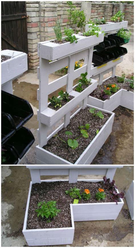 pallet herbs planters  gardens