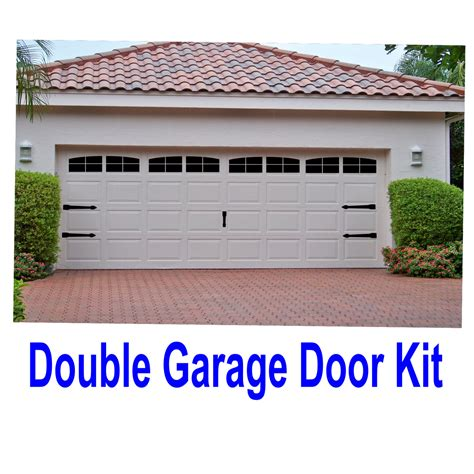 Garage Doors Kits Carriage House Style Vinyl Garage Door Decal Kit Faux Windows