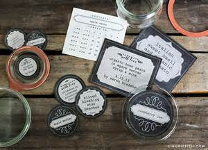 Canning Jar Labels Template by Chalkboard Canning Freezer Labels By Lia Griffith