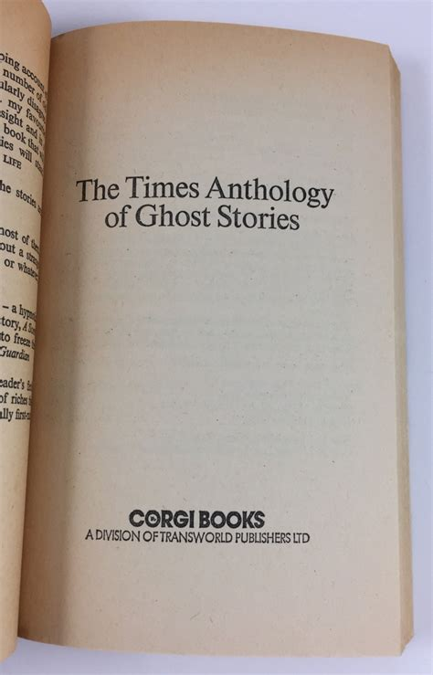 stories for the soul an anthology books the times anthology of ghost stories corgi books 1977