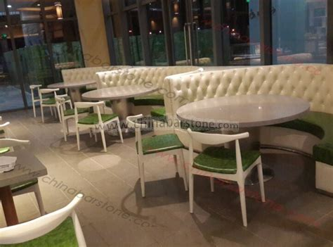 half booth half table leather material half curved restaurant booth sofa