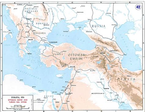 why did the ottoman empire join world war 1 european and middle eastern mainline railroads c 1914