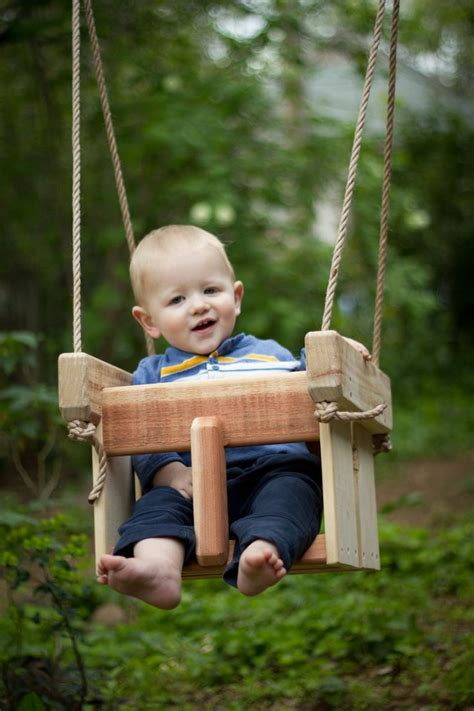 kids swings for trees baby swing or toddler swing cedar handmade porch or tree