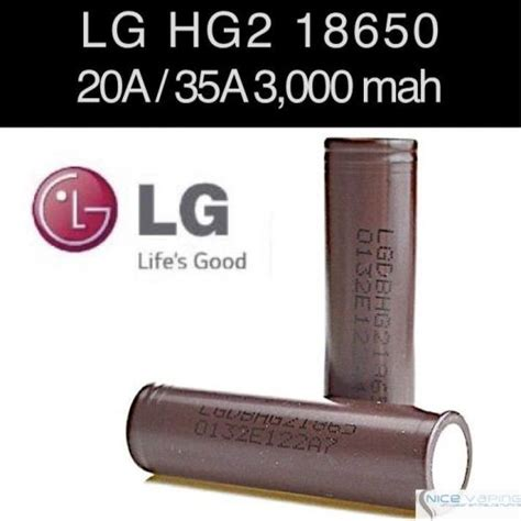 Baterai Battery Type 18650 Lg Hg2 3000mah 3 7v 11 1wh lg hg2 18650 20a 35a 3000mah flat nicevaping store mexico