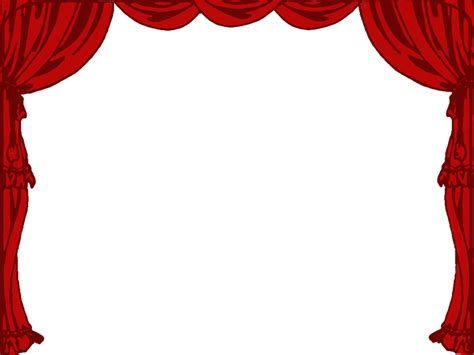 White Curtains Drama Stage Clip Art Library