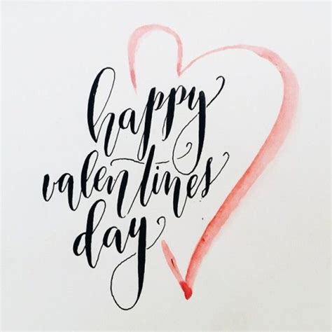 happy valentines day fancy writing script calligraphy