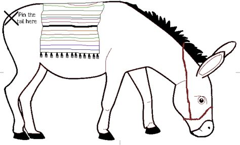 printable donkey templates printable pin the tail on the donkey