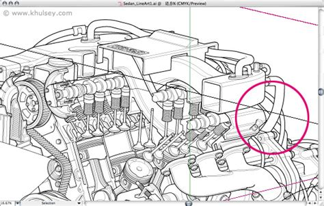 how to section a car automotive illustration tutorial how to draw a car cutaway