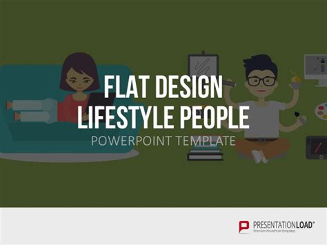 Flat Design Presentation People Ppt Template Flat Design Powerpoint Template