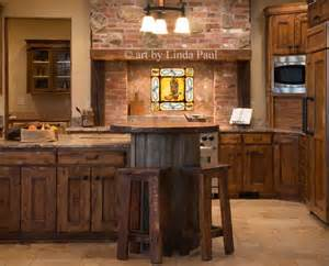 Country Kitchen Backsplash Tiles country kitchen with cowboy backsplash tiles rustic kitchen