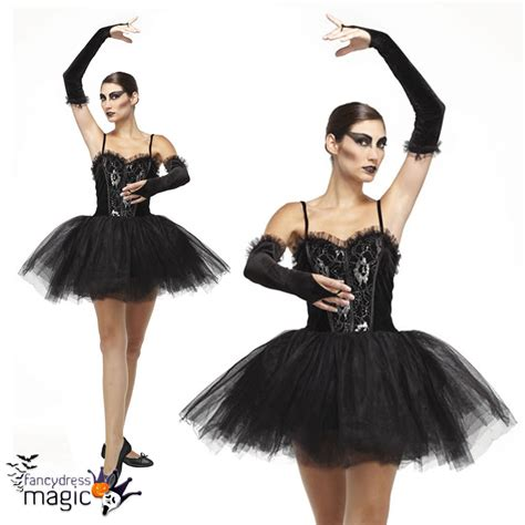 Dress Kostum Princess Disney Premium Size 8 12y adults ballerina black swan tutu fallen